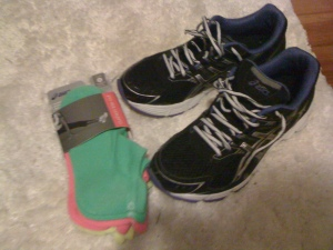 My Adidas Walking Shoes and Comfy Neon Socks