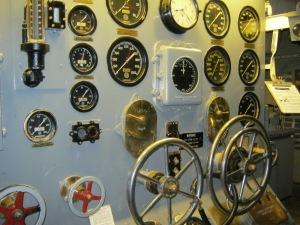 Engine Room Control Panel of the USS Salem