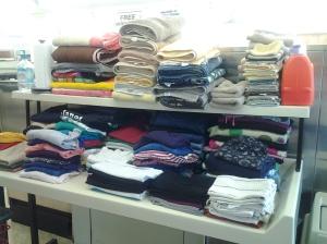 Most of my beautifully folded laundry.