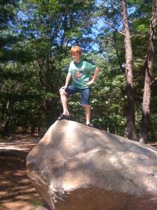 Alex on the rock.