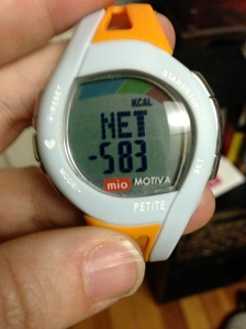 Mio Motiva Calories Burned