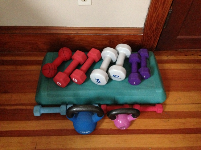 My Assortment of Hand Weights